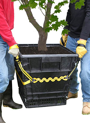 Lifting a square planter with a Prolifter