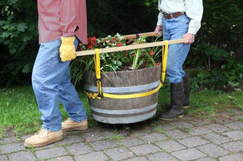 Lifting a barrel with a Prolifter
